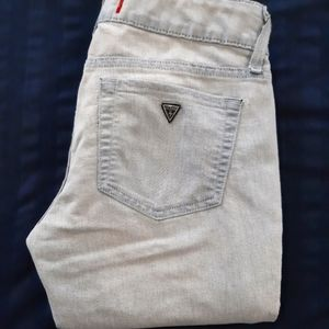 Guess Super Light Faded Bleached Skinny Jeans